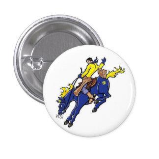 Botón de Roughriders de la High School secundaria Pin Redondo De 1 Pulgada