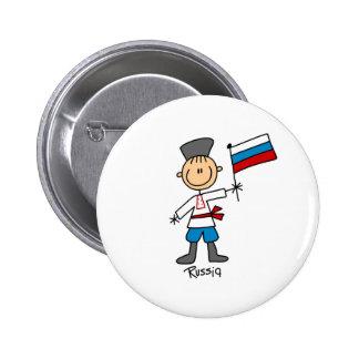 Botón de Rusia Pin Redondo De 2 Pulgadas