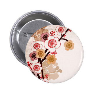 Botón de Sakura del vintage Pins