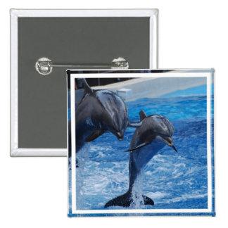 Botón de salto del delfín pins