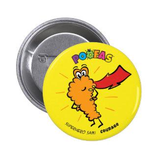 Botón de Sami del super héroe Pin Redondo De 2 Pulgadas