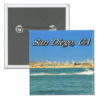Botón de San Diego Pin Cuadrado