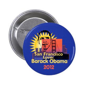 Botón de SAN FRANCISCO 2012 Pin Redondo De 2 Pulgadas