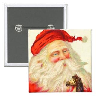 Botón de Santa del vintage Pin