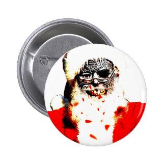 Botón de Santa del zombi Pin Redondo De 2 Pulgadas