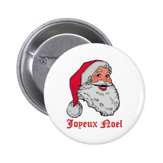 Botón de Santa Joyeux Noel Pin Redondo De 2 Pulgadas