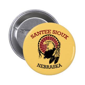 Botón de Santee Siux Pin Redondo De 2 Pulgadas