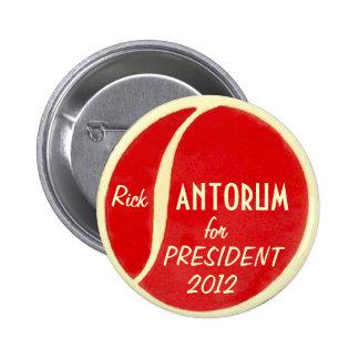 Botón de Santorum 2012 Pins