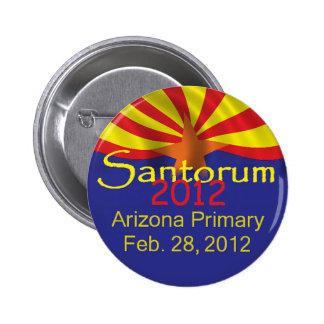 Botón de Santorum ARIZONA Pin Redondo De 2 Pulgadas