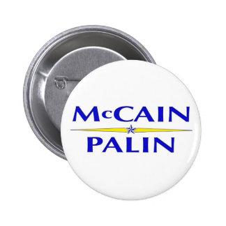 Botón de Sarah Palin John McCain Pin Redondo De 2 Pulgadas