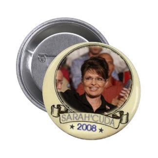 Botón de SarahCuda Pin Redondo De 2 Pulgadas