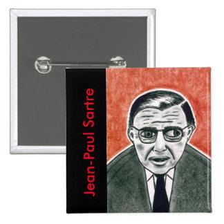 Botón de Sartre Pin Cuadrado