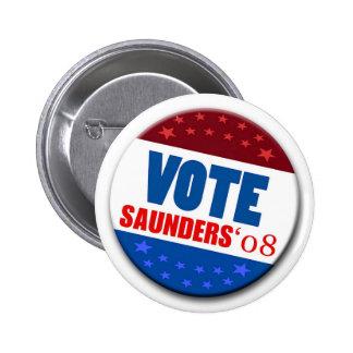 Botón de Saunders 08 del voto Pin