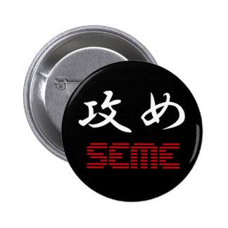 Botón de Seme Pin Redondo De 2 Pulgadas