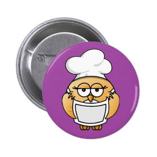Botón de señora Owl Chef Pins