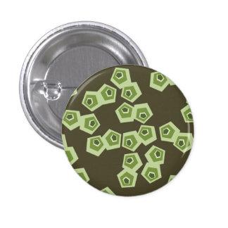 Botón de Shell abstracto de la tortuga Pin Redondo De 1 Pulgada
