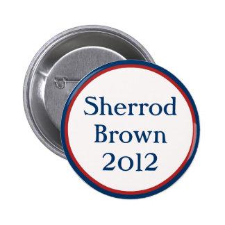 Botón de Sherrod Brown del vintage Pins
