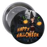 Botón de Skye del feliz Halloween Pins