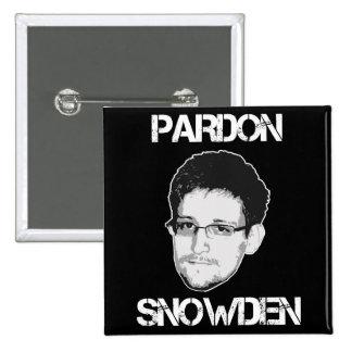 Botón de Snowden del perdón Pin Cuadrado
