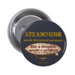 Botón de Steampunk Pin Redondo De 2 Pulgadas
