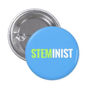 Botón de STEMinist Pin Redondo De 1 Pulgada