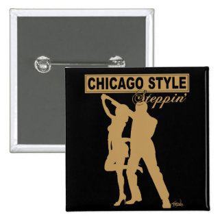 Botón de Steppin del estilo de Chicago Pin Cuadrado