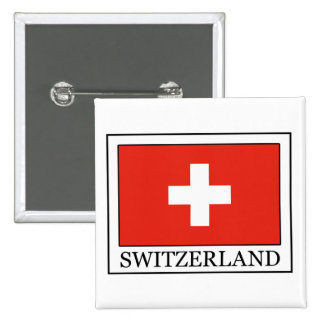 Botón de Suiza Pin Cuadrado