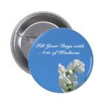 Botón de Sweetpea de la amabilidad Pins