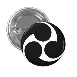 Botón de Taiko del 左三つ巴 de Hidari Mitsudomoe Pin