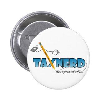 Botón de TaxNerd Pin Redondo De 2 Pulgadas