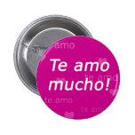 Botón de Te Amo Pin Redondo De 2 Pulgadas