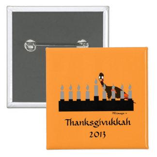 Botón de Thanksgivukkah Menorah Pins