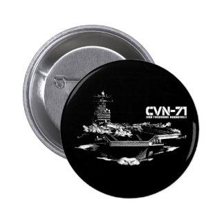 Botón de Theodore Roosevelt de portaaviones Pin Redondo De 2 Pulgadas