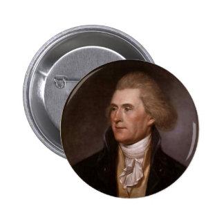Botón de Thomas Jefferson Pin Redondo De 2 Pulgadas