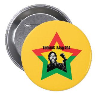 """Botón de Thomas Sankara """"Che"""" Pin Redondo De 3 Pulgadas"""