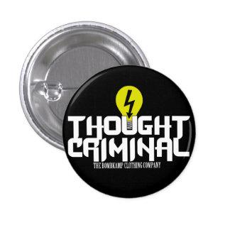 Botón de ThoughtCriminal Pin Redondo De 1 Pulgada