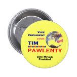 Botón de Tim Pawlenty VP Pins