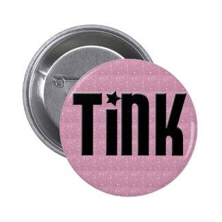 Botón de Tink - corazones rosados Pin Redondo De 2 Pulgadas