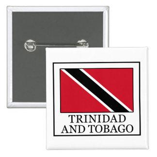 Botón de Trinidad and Tobago Pin Cuadrado