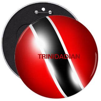 Botón de Trinidad y de Trinidad y Tobago persona d Pin Redondo De 6 Pulgadas