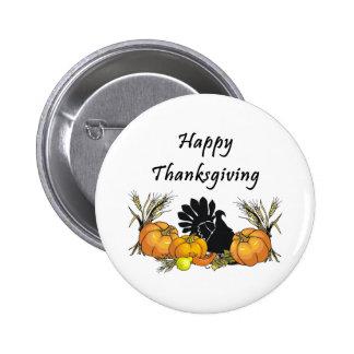 Botón de Turquía de la acción de gracias Pins
