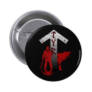 Botón de Tyr y de Fenrir Pin Redondo De 2 Pulgadas