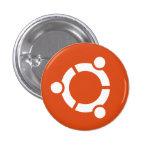 Botón de Ubuntu Pin Redondo De 1 Pulgada