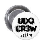 Botón de UDo Cr3w Pin Redondo De 2 Pulgadas