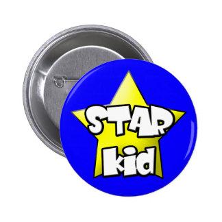 botón de una estrella del niño pin redondo de 2 pulgadas