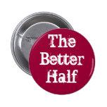 Botón de una mejor mitad pins