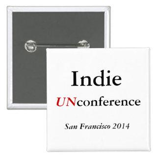 Botón de UNconference del indie Pin Cuadrado