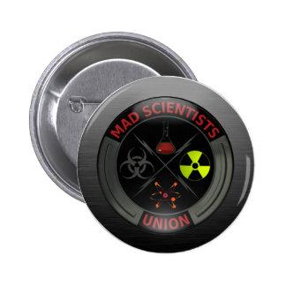 Botón de unión enojado brillante del científico pin