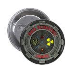 Botón de unión enojado del científico pin