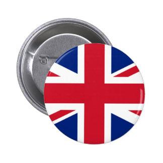 Botón de Union Jack Reino Unido Pin Redondo De 2 Pulgadas